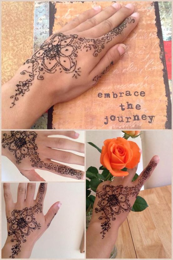 A Simple Henna Design I Drew On My Hand